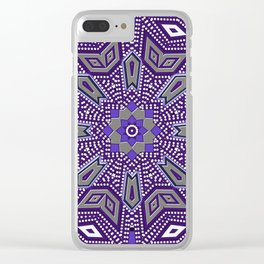Indigo Power Geometrica Clear iPhone Case