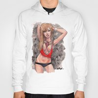 chicago bulls Hoodies featuring Chicago Bulls pin up girl by carlations: Carla Wyzgala illustrations