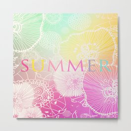 PRISMATIC SUMMER RAINBOW Metal Print