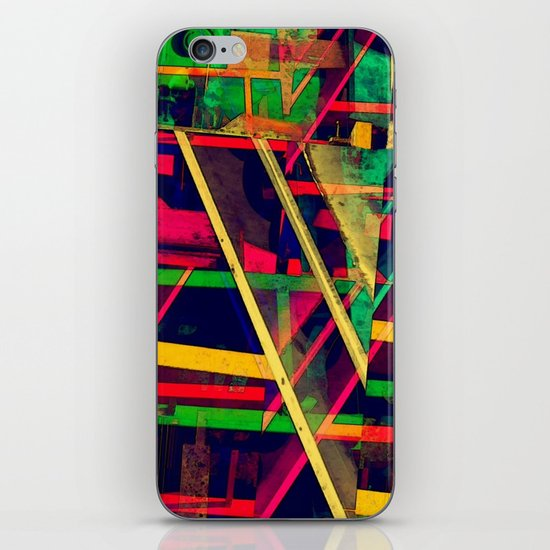 Industrial Abstract Green iPhone & iPod Skin