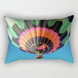 Flying Colorful Hot air Balloon Rectangular Pillow