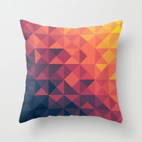 infinity Throw Pillows featuring Infinity Twilight by Picomodi