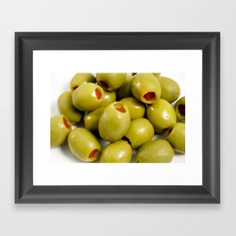 Green olives Framed Art Print