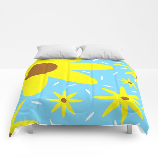 Nothing But Flowers Comforters
