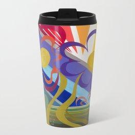 Flower Horizon Metal Travel Mug