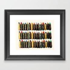 Glitter Lipsticks Framed Art Print