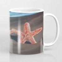 starfish Mugs featuring Starfish by Lark Nouveau Studio