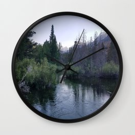 Serenity Exists at Twilight Wall Clock