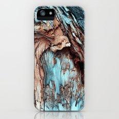 Mint Blue Wood Texture iPhone (5, 5s) Slim Case