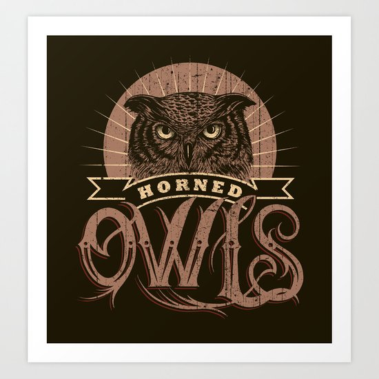 Team Owl Art Print