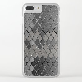 Mermaid Scales Silver Gray Glam #1 #shiny #decor #art #society6 Clear iPhone Case