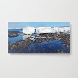 Icebergs Beached by the tides Metal Print