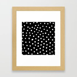 White Painted Dots Framed Art Print