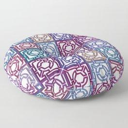Colorful Maze V Floor Pillow