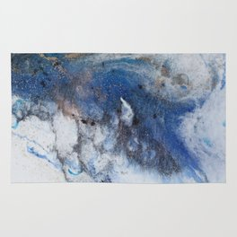 Abstract blue marble Rug