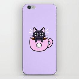 Pastel Coffee Cat iPhone Skin