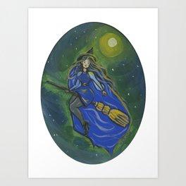 Blue witch Art Print