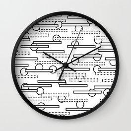 Rectangles+Circles Wall Clock