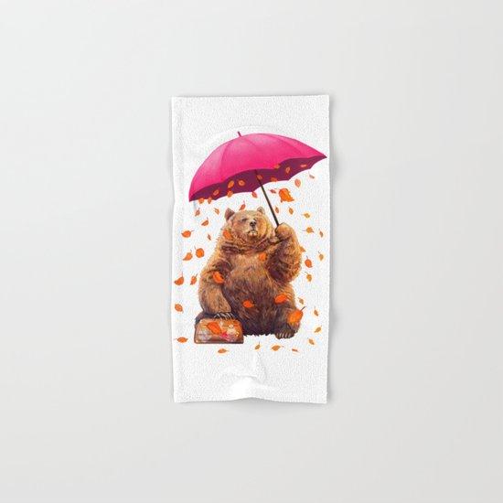 autumn bear Hand & Bath Towel