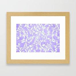 Shabby Chic purple damask Framed Art Print
