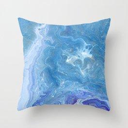 Blue Depths Throw Pillow