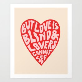 LOVERS CANNOT SEE Art Print