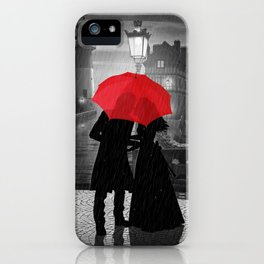 Farewell at harbor iPhone Case