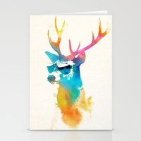 stag Stationery Cards featuring Sunny Stag by Robert Farkas