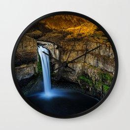 Washington USA Palouse Falls Crag Nature canyons Waterfalls Rock Cliff Canyon Wall Clock
