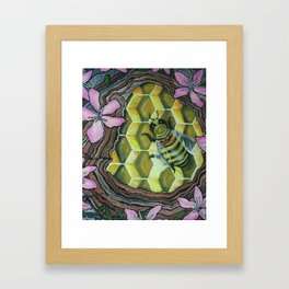 SAVE THE BEES! Framed Art Print