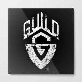 Guild Guitar-Eroded Logo-Music,Jazz,Rock,Folk,Blues Metal Print
