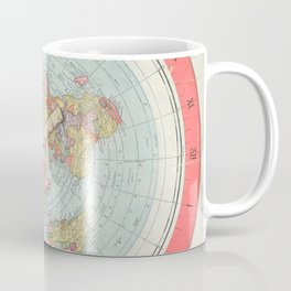 Flat Earth Society Wall Map Coffee Mug