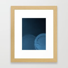 Dark Night Blues Framed Art Print