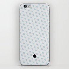 U13: grey droplet iPhone & iPod Skin