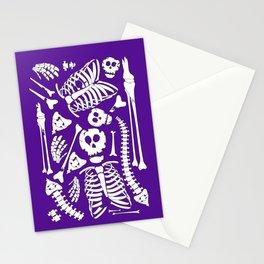 Skeletal Love (Purple) Stationery Cards