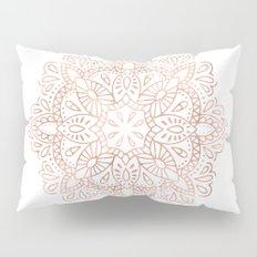 Mandala Rose Gold Pink Shimmer by Nature Magick Pillow Sham
