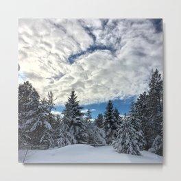 Snow N Clouds Metal Print