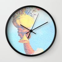 monty python Wall Clocks featuring Monty Python & The Holy Grail. The Script Print! by Robotic Ewe