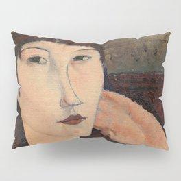 "Amedeo Modigliani ""Adrienne (Woman with Bangs)"" (1916) Pillow Sham"