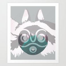 Dreamland Mononoke Mask Art Print