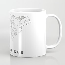 BRECKENRIDGE // Colorado Trail Map Black and White Lines Minimalist Ski & Snowboard Illustration Coffee Mug