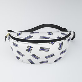 Police Flag Pattern Fanny Pack