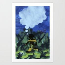 Boy with Fig Leaf Art Print