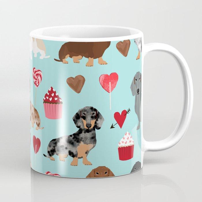 Dachsund Dachsie Doxie Valentines Day Valentine Hearts Love Cupcakes