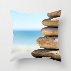 stacked rocks Throw Pillow