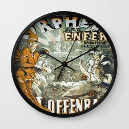 Vintage poster - Orphee aux Enfers Wall Clock