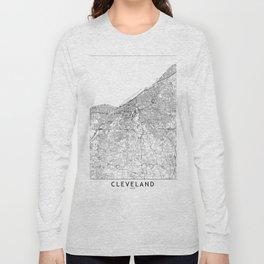 Cleveland White Map Long Sleeve T-shirt