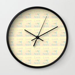 -Love and music-melody,rhythm,harmony,lovely,sweet,romantism,romantic,gentle Wall Clock