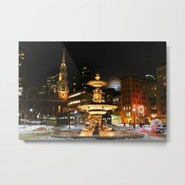 Night Time on Boston Common  Metal Print