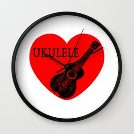 Ukulele Love Wall Clock